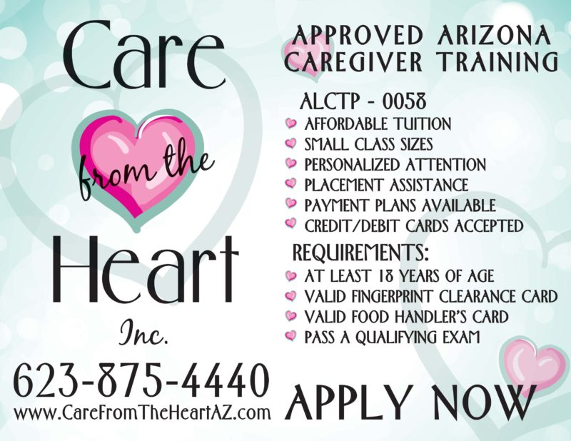 review our employment opportunities | care from the heart az